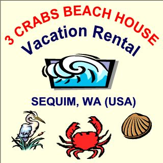 3 Crabs Beach House Vacation Rental in Sequim, WA (USA)